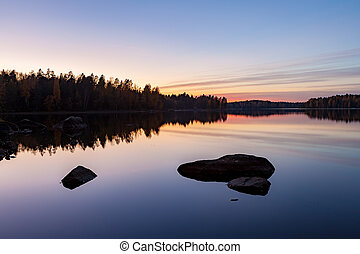 Serene view of calm lake
