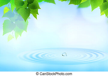 Serenity. Abstract natural backgrounds for your design