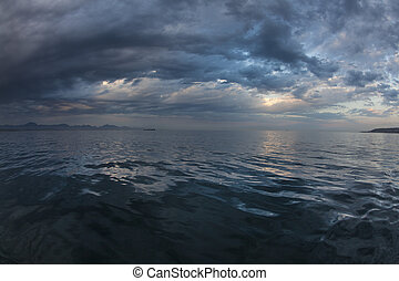 Serenity at sea - landscape of calm ocean
