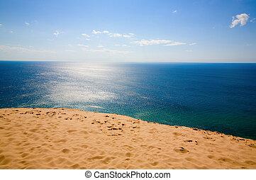 Serenity - Beautiful view of Lake Michigan from dunes. ...
