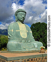 Serenity - Giant Budha Statue against a Beautiful Sky