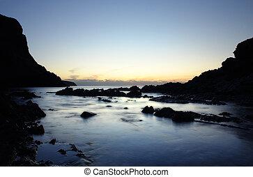 Serenity - Peaceful Coastline at Sunset