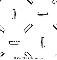 Sergical saw pattern seamless black - Sergical saw pattern...