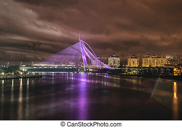 Seri Wawasan Bridge at Night