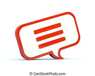 seria, icon., bańka, pogawędka, czerwony