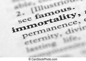 seria, nieśmiertelność, -, słownik