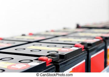 serial, unido, baterías, para, uninterruptible, fuente de...