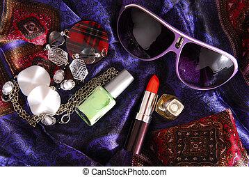 serico, accessori, sciarpa, donne