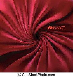 serico, tessuto, rosso