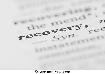 serie, -, återvinnande, ordbok