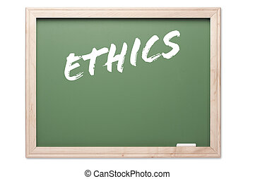 serie, éticas, -, pizarra