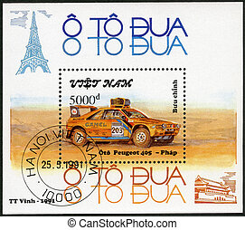 serie, -, 1991:, vietnam, automobili, rally, 405, peugeot, mostra
