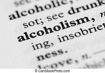 serie, -, alcolismo, dizionario