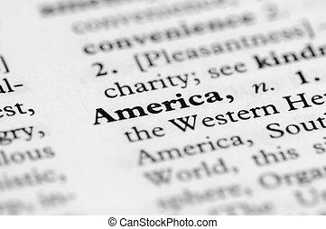 serie, america, -, dizionario