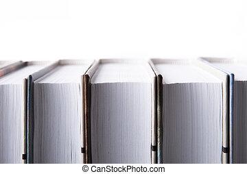 serie, bianco, libro, fondo