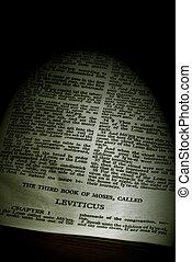 serie, biblia, sepia, leviticus