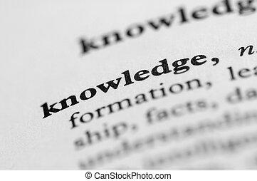 serie, -, conocimiento, diccionario