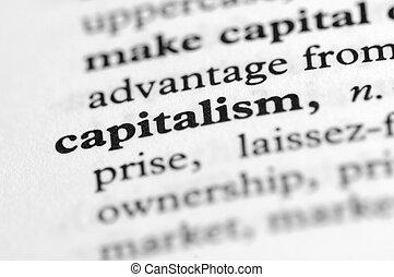 serie, -, diccionario, capitalismo