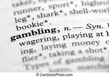 serie, -, dizionario, gioco