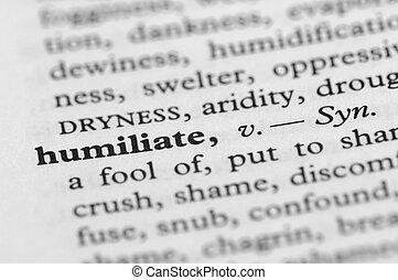serie, -, dizionario, humiliate