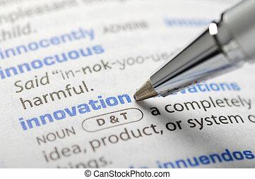 serie, -, dizionario, innovazione