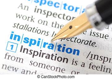 serie, -, dizionario, ispirazione