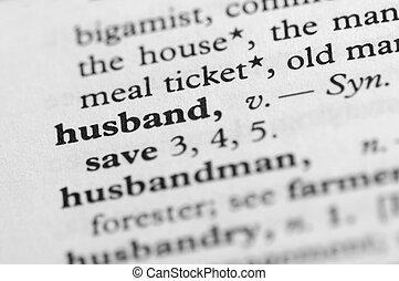 serie, -, dizionario, marito