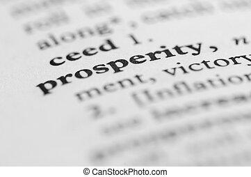 serie, -, dizionario, prosperità