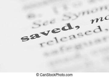 serie, -, dizionario, risparmiato