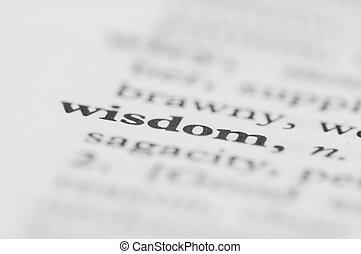 serie, -, dizionario, saggezza