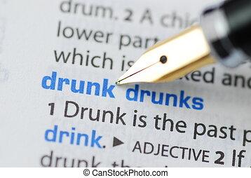serie, -, dizionario, ubriaco