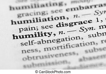 serie, -, dizionario, umiltà