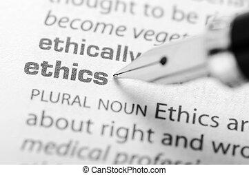serie, etica, -, dizionario