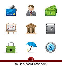 serie, -, finanza, icona