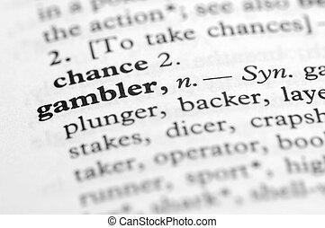 serie, -, giocatore d'azzardo, dizionario