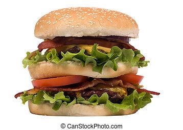 serie, hamburger, cheeseburger), (bacon