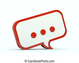 serie, icon., anförande, röd