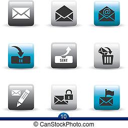 serie, icono, -, 10, correo
