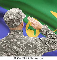 serie, nacional, -, entretela, soldado, bandera, isla, ...