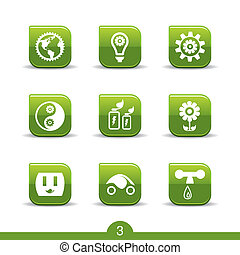 serie, no.3..smooth, ecologia, icone