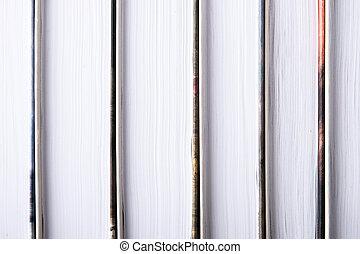 serie, orizzontale, libro, fondo