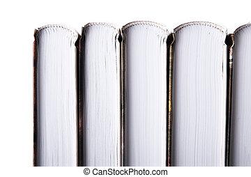 serie, orizzontale, libro, sfondo bianco