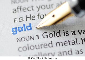 serie, -, oro, dizionario