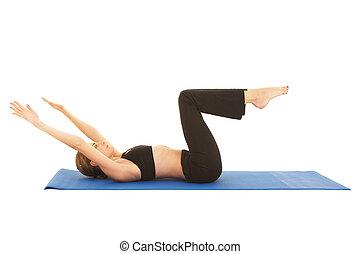 serie, pilates, ejercicio
