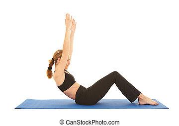 serie, pilates, esercizio