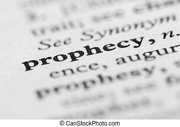 serie, profezia, -, dizionario