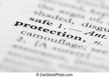 serie, protezione, -, dizionario
