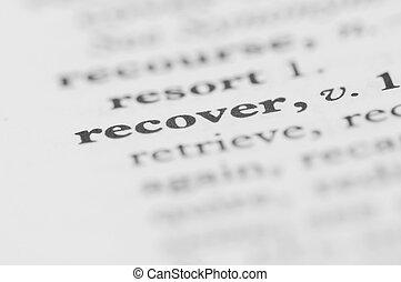 serie, recuperare, -, dizionario