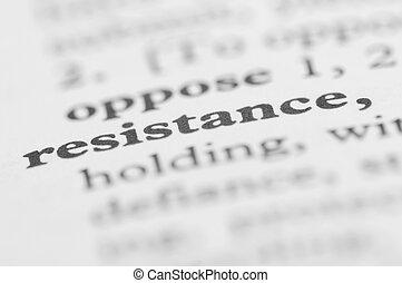 serie, -, resistencia, diccionario