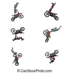 serie, saltos, motocross